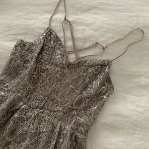 Iridescent champagne romper from UO Kimchi Blue
